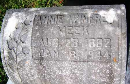 WINFREY MEEK, ANNIE - Ouachita County, Arkansas | ANNIE WINFREY MEEK - Arkansas Gravestone Photos