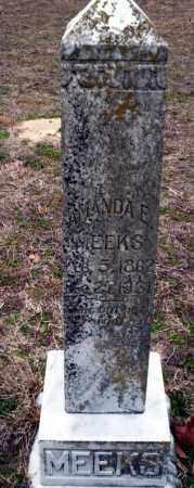 MEEKS, AMANDA E - Ouachita County, Arkansas | AMANDA E MEEKS - Arkansas Gravestone Photos