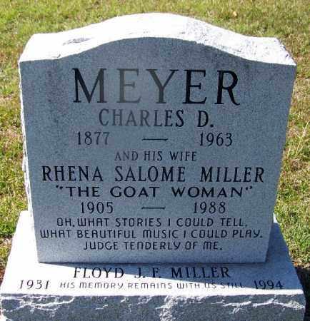 MILLER MEYER, RHENA SALOME - Ouachita County, Arkansas | RHENA SALOME MILLER MEYER - Arkansas Gravestone Photos