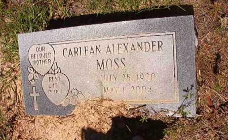 MOSS, CARLEAN - Ouachita County, Arkansas | CARLEAN MOSS - Arkansas Gravestone Photos