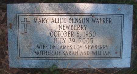 NEWBERRY, MARY ALICE BENSON - Ouachita County, Arkansas | MARY ALICE BENSON NEWBERRY - Arkansas Gravestone Photos