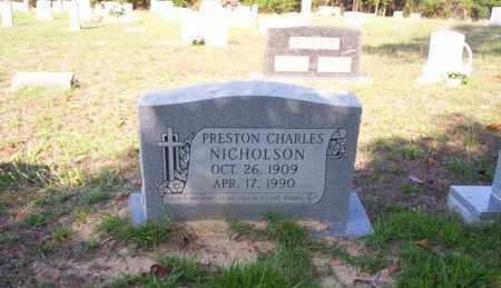 NICHOLSON, PRESTON CHARLES - Ouachita County, Arkansas | PRESTON CHARLES NICHOLSON - Arkansas Gravestone Photos