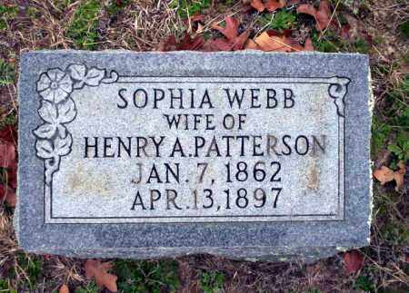 WEBB PATTERSON, SOPHIA - Ouachita County, Arkansas | SOPHIA WEBB PATTERSON - Arkansas Gravestone Photos