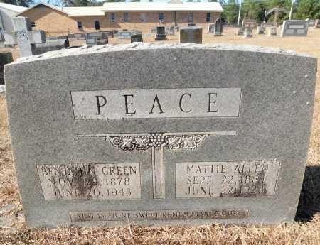 PEACE, BENJAMIN GREEN - Ouachita County, Arkansas | BENJAMIN GREEN PEACE - Arkansas Gravestone Photos