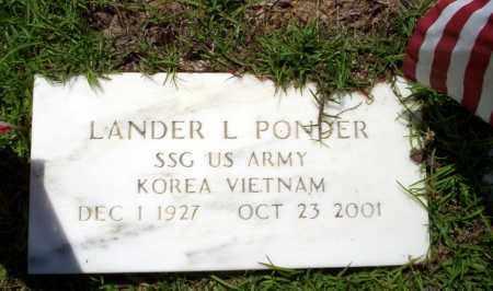 PONDER   (VETERAN 2 WARS), LANDER L - Ouachita County, Arkansas | LANDER L PONDER   (VETERAN 2 WARS) - Arkansas Gravestone Photos