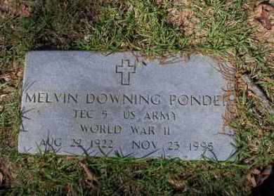 PONDER  (VETERAN WWII), MELVIN DOWNING - Ouachita County, Arkansas | MELVIN DOWNING PONDER  (VETERAN WWII) - Arkansas Gravestone Photos