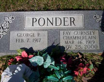 GURNSEY  CHAMBERLIN PONDER, FAY - Ouachita County, Arkansas | FAY GURNSEY  CHAMBERLIN PONDER - Arkansas Gravestone Photos