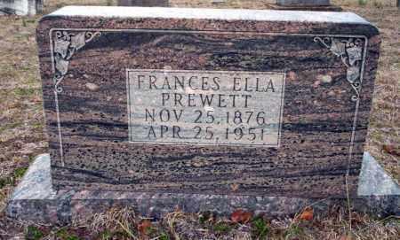 PREWETT, FRANCES ELLA - Ouachita County, Arkansas   FRANCES ELLA PREWETT - Arkansas Gravestone Photos