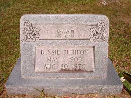 PURIFOY, BESSIE - Ouachita County, Arkansas   BESSIE PURIFOY - Arkansas Gravestone Photos