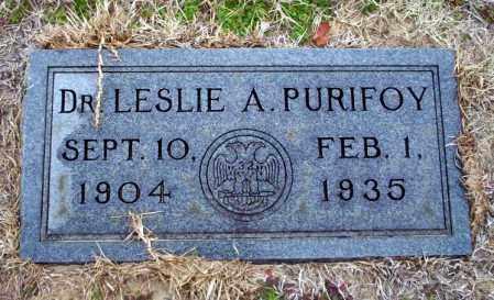 PURIFOY, DR. LESLIE A - Ouachita County, Arkansas   DR. LESLIE A PURIFOY - Arkansas Gravestone Photos