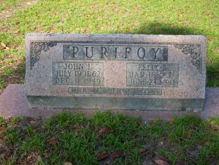 PURIFOY, JOHN L - Ouachita County, Arkansas | JOHN L PURIFOY - Arkansas Gravestone Photos