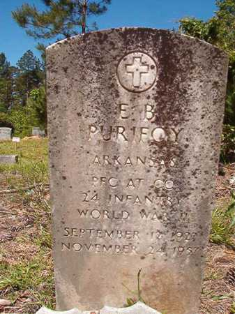 PURIFOY (VETERAN WWII), E B - Ouachita County, Arkansas | E B PURIFOY (VETERAN WWII) - Arkansas Gravestone Photos