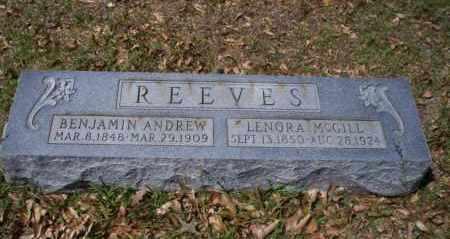 REEVES, BENJAMIN ANDREW - Ouachita County, Arkansas | BENJAMIN ANDREW REEVES - Arkansas Gravestone Photos