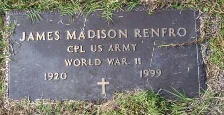 RENFRO  (VETERAN WWII), JAMES MADISON - Ouachita County, Arkansas   JAMES MADISON RENFRO  (VETERAN WWII) - Arkansas Gravestone Photos