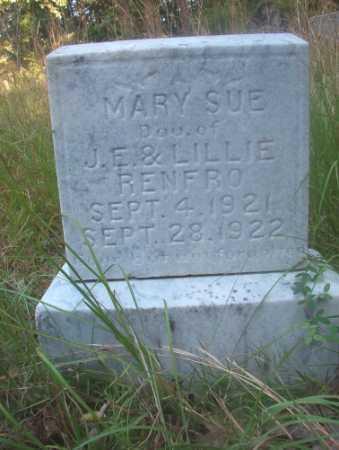 RENFRO, MARY SUE - Ouachita County, Arkansas | MARY SUE RENFRO - Arkansas Gravestone Photos