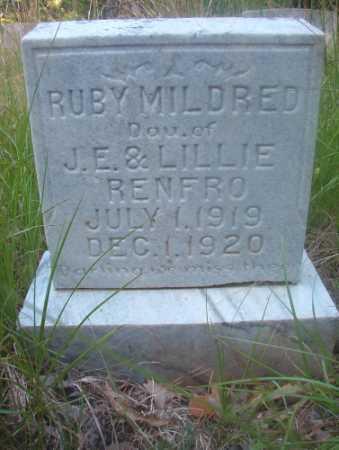 RENFRO, RUBY MILDRED - Ouachita County, Arkansas   RUBY MILDRED RENFRO - Arkansas Gravestone Photos