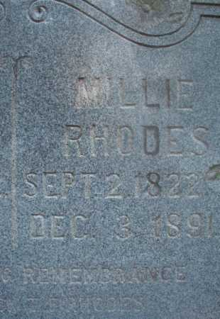 RHODES, MILLIE - Ouachita County, Arkansas | MILLIE RHODES - Arkansas Gravestone Photos