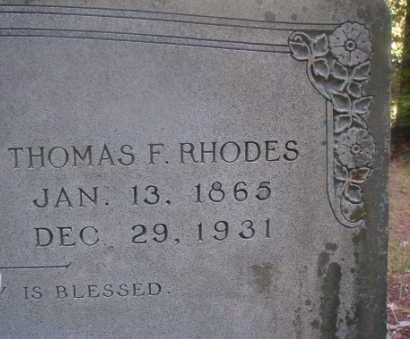 RHODES, THOMAS F - Ouachita County, Arkansas   THOMAS F RHODES - Arkansas Gravestone Photos