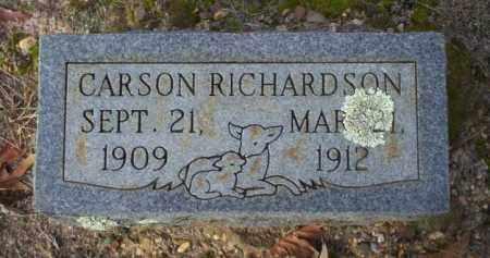 RICHARDSON, CARSON - Ouachita County, Arkansas   CARSON RICHARDSON - Arkansas Gravestone Photos