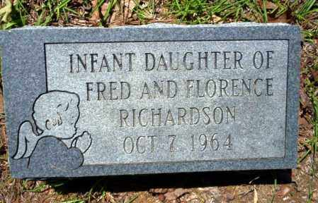 RICHARDSON, INFANT DAUGHTER - Ouachita County, Arkansas | INFANT DAUGHTER RICHARDSON - Arkansas Gravestone Photos