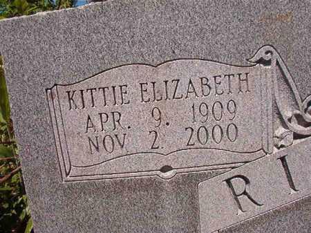 RIGSBY, KITTIE ELIZABETH - Ouachita County, Arkansas | KITTIE ELIZABETH RIGSBY - Arkansas Gravestone Photos