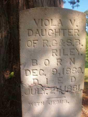RILEY, VIOLA V - Ouachita County, Arkansas   VIOLA V RILEY - Arkansas Gravestone Photos