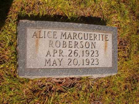 ROBERSON, ALICE MARGUERITE - Ouachita County, Arkansas | ALICE MARGUERITE ROBERSON - Arkansas Gravestone Photos