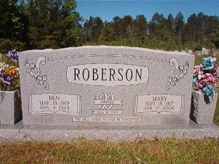 ROBERSON, BEN - Ouachita County, Arkansas | BEN ROBERSON - Arkansas Gravestone Photos
