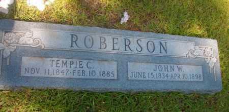 ROBERSON, JOHN W - Ouachita County, Arkansas | JOHN W ROBERSON - Arkansas Gravestone Photos