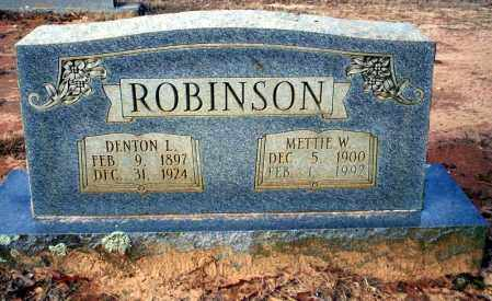 ROBINSON, METTIE W - Ouachita County, Arkansas | METTIE W ROBINSON - Arkansas Gravestone Photos