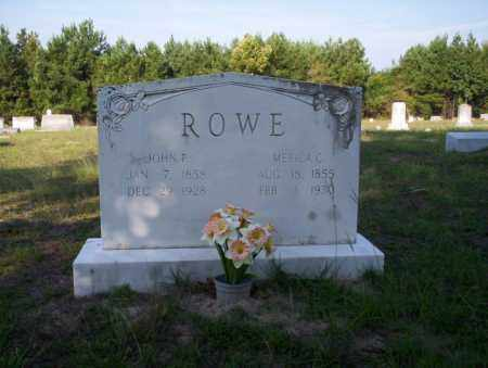 ROWE, JOHN F - Ouachita County, Arkansas | JOHN F ROWE - Arkansas Gravestone Photos