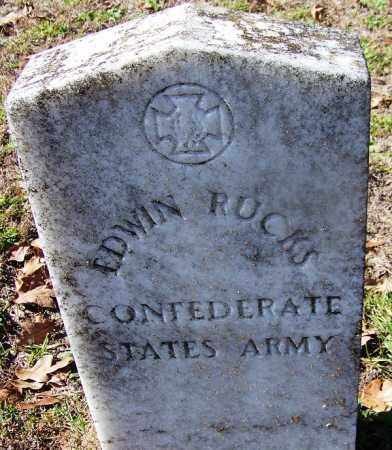 RUCKS (VETERAN CSA), EDWIN - Ouachita County, Arkansas | EDWIN RUCKS (VETERAN CSA) - Arkansas Gravestone Photos