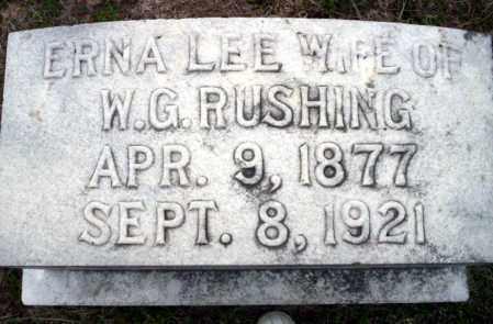 LEE RUSHING, ERNA - Ouachita County, Arkansas | ERNA LEE RUSHING - Arkansas Gravestone Photos