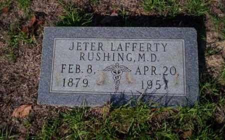 RUSHING M.D., JETER LAFFERTY - Ouachita County, Arkansas   JETER LAFFERTY RUSHING M.D. - Arkansas Gravestone Photos