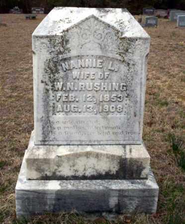 RUSHING, NANNIE L - Ouachita County, Arkansas | NANNIE L RUSHING - Arkansas Gravestone Photos