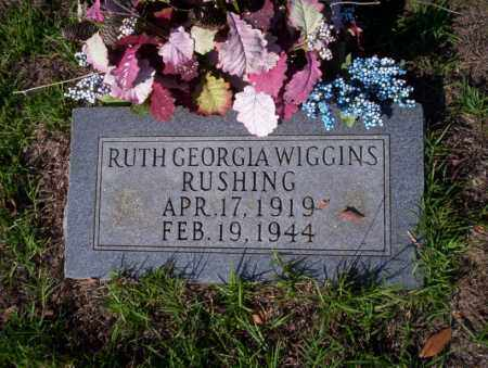 WIGGINS RUSHING, RUTH GEORGIA - Ouachita County, Arkansas | RUTH GEORGIA WIGGINS RUSHING - Arkansas Gravestone Photos