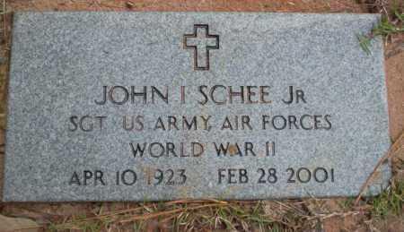 SCHEE, JR (VETERAN WWII), JOHN I - Ouachita County, Arkansas | JOHN I SCHEE, JR (VETERAN WWII) - Arkansas Gravestone Photos