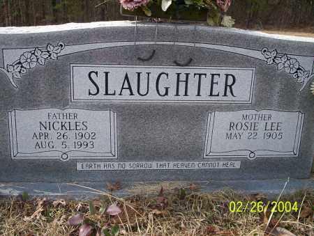 SLAUGHTER, NICKLES - Ouachita County, Arkansas | NICKLES SLAUGHTER - Arkansas Gravestone Photos