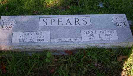 AARANT SPEARS, BENNIE - Ouachita County, Arkansas | BENNIE AARANT SPEARS - Arkansas Gravestone Photos
