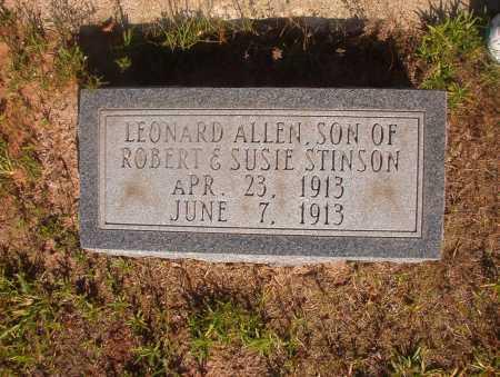 STINSON, LEONARD ALLEN - Ouachita County, Arkansas | LEONARD ALLEN STINSON - Arkansas Gravestone Photos
