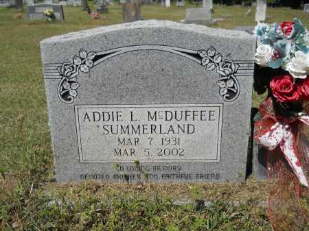 MCDUFFEE SUMMERLAND, ADDIE L - Ouachita County, Arkansas | ADDIE L MCDUFFEE SUMMERLAND - Arkansas Gravestone Photos