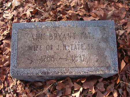 BRYANT TATE, ANN - Ouachita County, Arkansas | ANN BRYANT TATE - Arkansas Gravestone Photos