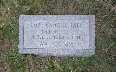 TATE, CORSICANA A - Ouachita County, Arkansas | CORSICANA A TATE - Arkansas Gravestone Photos