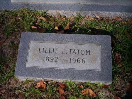TATOM, LILLIE E - Ouachita County, Arkansas   LILLIE E TATOM - Arkansas Gravestone Photos