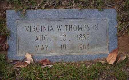 THOMPSON, VIRGINIA W - Ouachita County, Arkansas | VIRGINIA W THOMPSON - Arkansas Gravestone Photos
