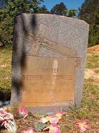TIDWELL, BETHER L - Ouachita County, Arkansas   BETHER L TIDWELL - Arkansas Gravestone Photos