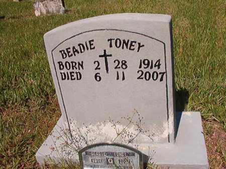 TONEY, BEADIE - Ouachita County, Arkansas   BEADIE TONEY - Arkansas Gravestone Photos