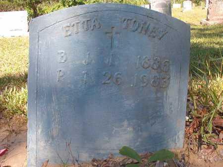 TONEY, ETTA - Ouachita County, Arkansas | ETTA TONEY - Arkansas Gravestone Photos