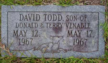 VENABLE, DAVID TODD - Ouachita County, Arkansas | DAVID TODD VENABLE - Arkansas Gravestone Photos