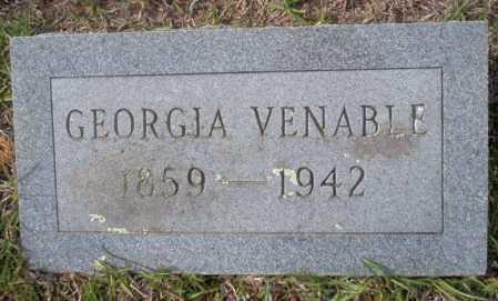 VENABLE, GEORGIA - Ouachita County, Arkansas | GEORGIA VENABLE - Arkansas Gravestone Photos